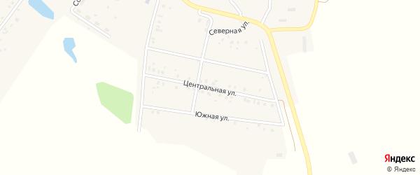 Центральная улица на карте села Богатырево с номерами домов