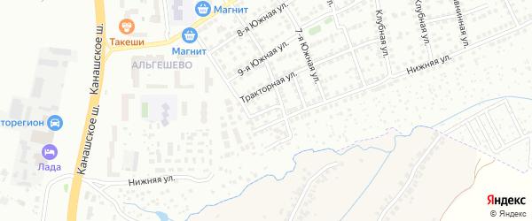 1-ый Южный переулок на карте Чебоксар с номерами домов