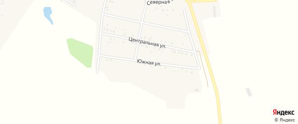 Южная улица на карте села Богатырево с номерами домов