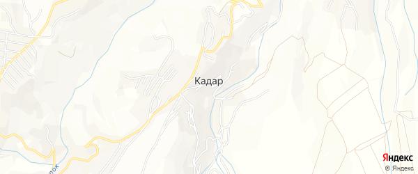 Карта села Кадара в Дагестане с улицами и номерами домов