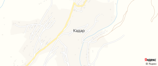 Улица Алиева на карте села Кадара с номерами домов