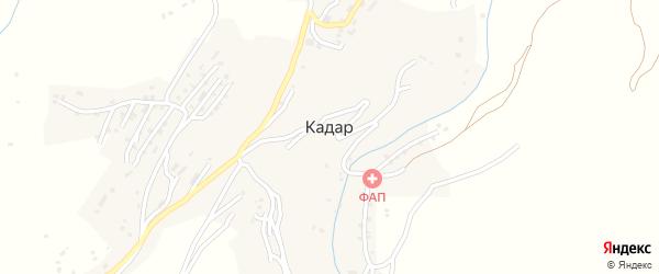 Улица Кациней на карте села Кадара с номерами домов