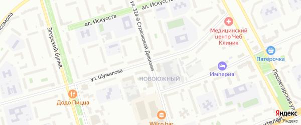 Улица 324 Стрелковой дивизии на карте Чебоксар с номерами домов