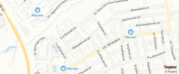 Абашевская улица на карте Чебоксар с номерами домов