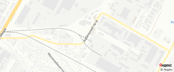 Кабельный проезд на карте Чебоксар с номерами домов