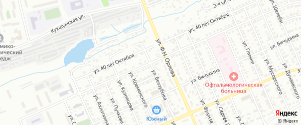 Улица Магницкого на карте Чебоксар с номерами домов
