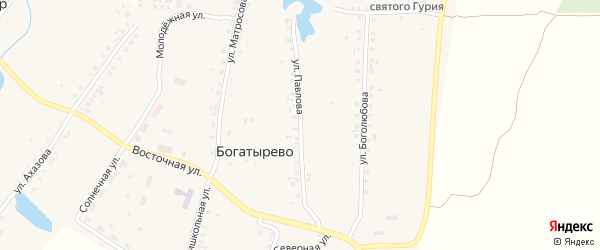 Улица Павлова на карте села Богатырево с номерами домов