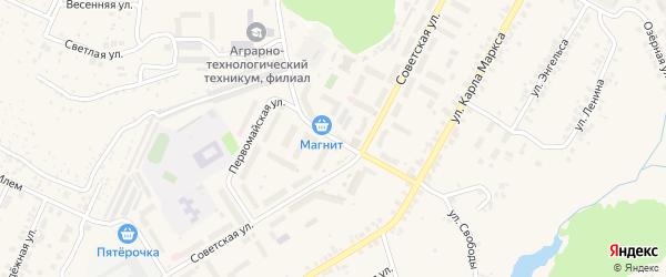 Первомайская улица на карте поселка Кугеси с номерами домов