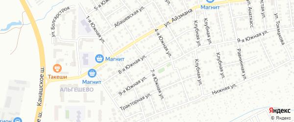 7-я Южная улица на карте Чебоксар с номерами домов