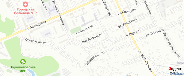 Переулок Бродского на карте Чебоксар с номерами домов