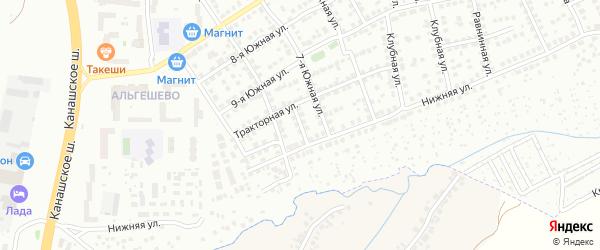 Тракторный переулок на карте Чебоксар с номерами домов