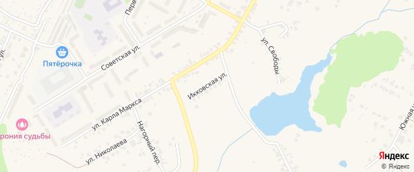 Икковская улица на карте поселка Кугеси с номерами домов