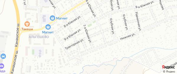 Тракторная улица на карте Чебоксар с номерами домов