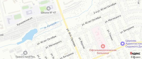 Улица 40 лет Октября на карте Чебоксар с номерами домов