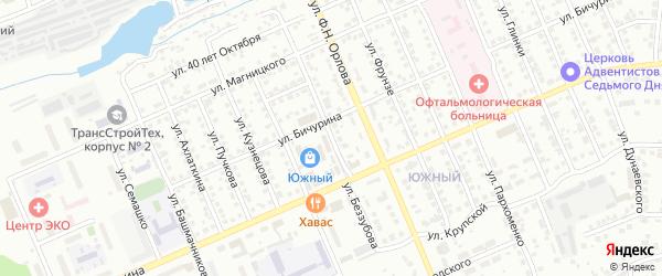 Улица Беззубова на карте Чебоксар с номерами домов