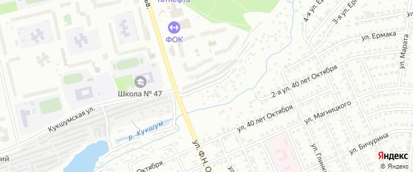 Улица 4-я 40 лет Октября на карте Чебоксар с номерами домов