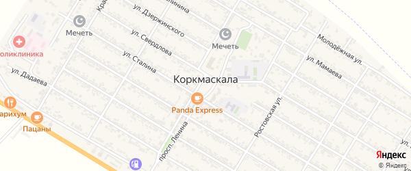 Улица Дахадаева на карте села Коркмаскалы с номерами домов