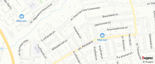 Узорная улица на карте Чебоксар с номерами домов