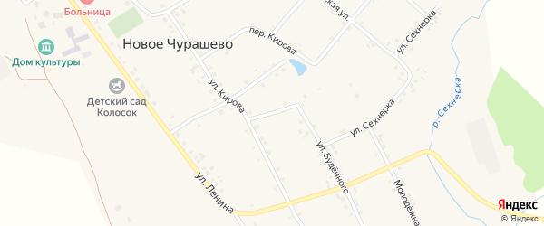 Овражный переулок на карте села Новое Чурашево с номерами домов