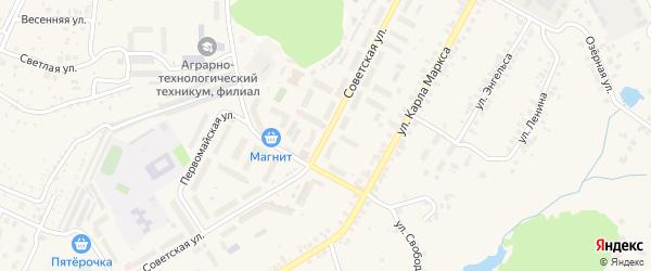 Советская улица на карте поселка Кугеси с номерами домов