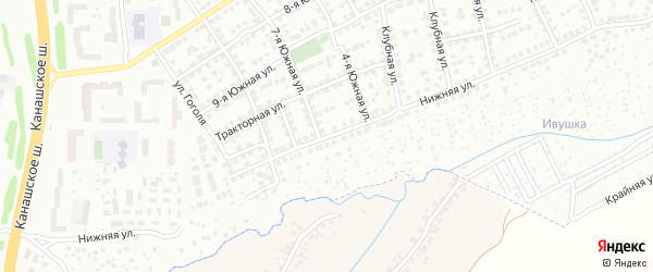 Нижняя улица на карте Чебоксар с номерами домов