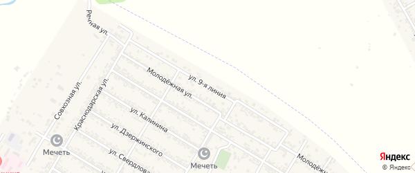 Улица 9-я Линия на карте села Коркмаскалы с номерами домов