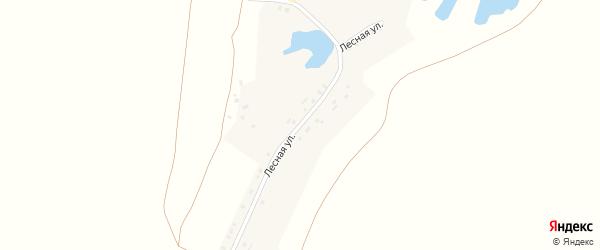 Лесная улица на карте деревни Верхней Яндобы с номерами домов