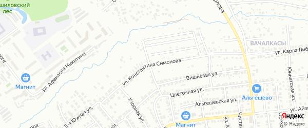 Улица К.Симонова на карте Чебоксар с номерами домов