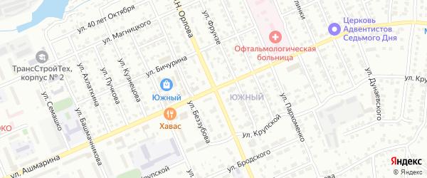 Улица Ашмарина на карте Чебоксар с номерами домов