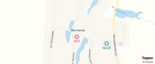 Полевая улица на карте села Янгличи с номерами домов