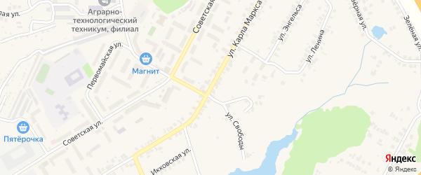 Улица Карла Маркса на карте поселка Кугеси с номерами домов