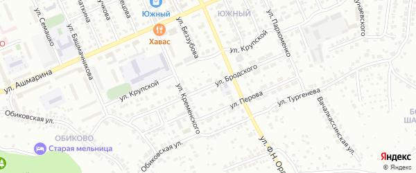 Улица Бродского на карте Чебоксар с номерами домов