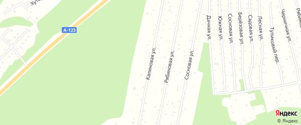 Калиновая улица на карте садового некоммерческого товарищества СОТ Двинские Зори с номерами домов