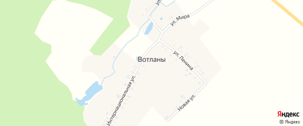 Новая улица на карте деревни Вотланы с номерами домов