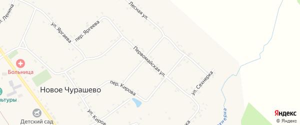 Первомайская улица на карте села Новое Чурашево с номерами домов