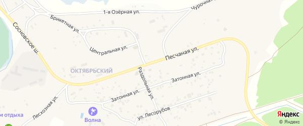 Песчанная улица на карте Чебоксар с номерами домов