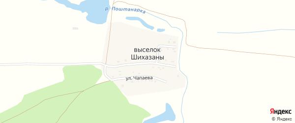 Улица Новосёлов на карте села Шихазаны с номерами домов