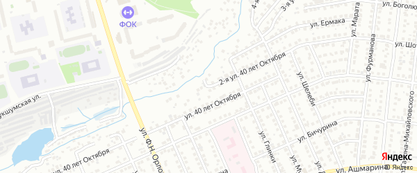 Улица 3-я 40 лет Октября на карте Чебоксар с номерами домов