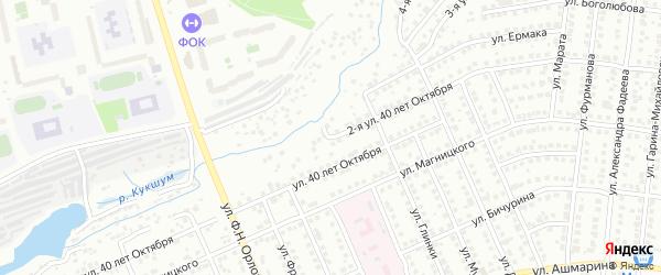 Улица 2-я 40 лет Октября на карте Чебоксар с номерами домов