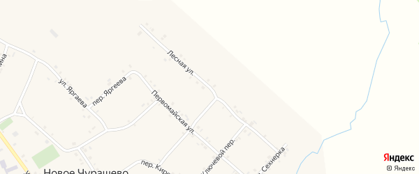 Лесная улица на карте села Новое Чурашево с номерами домов