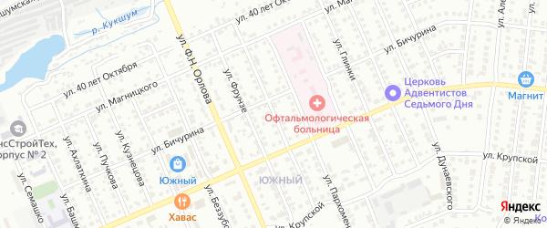 Улица С.Лазо на карте Чебоксар с номерами домов
