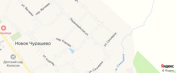 Ключевой переулок на карте села Новое Чурашево с номерами домов