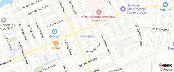 Территория сдт Южный на карте Чебоксар с номерами домов