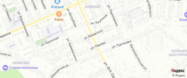 Улица Ф.Н.Орлова на карте Чебоксар с номерами домов