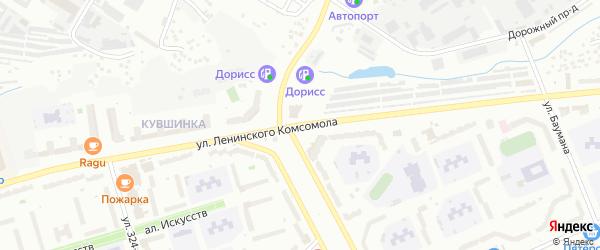 Улица Ленинского Комсомола на карте Чебоксар с номерами домов