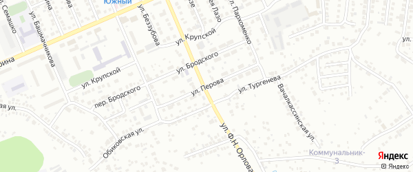 Улица Перова на карте Чебоксар с номерами домов