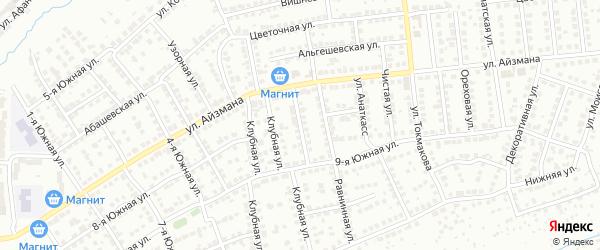 Березовая улица на карте Чебоксар с номерами домов