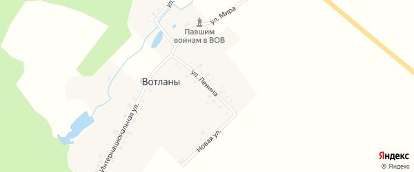 Улица Ленина на карте деревни Вотланы с номерами домов