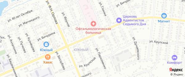 Улица Пархоменко на карте Чебоксар с номерами домов