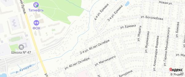 Улица 2-я Ермака на карте Чебоксар с номерами домов